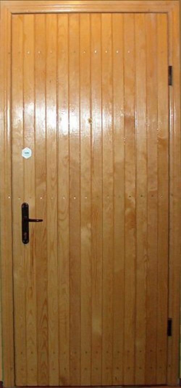 двери металлические обшитый деревом