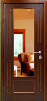 железные двери в лобне с зеркалом